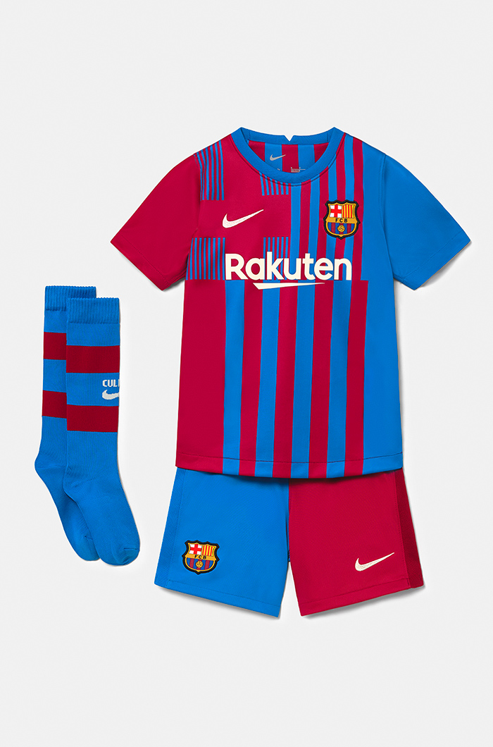 Fc Barcelona Home Kit 21 22 Younger Kids Kits Children And Babies Categories Barca Store