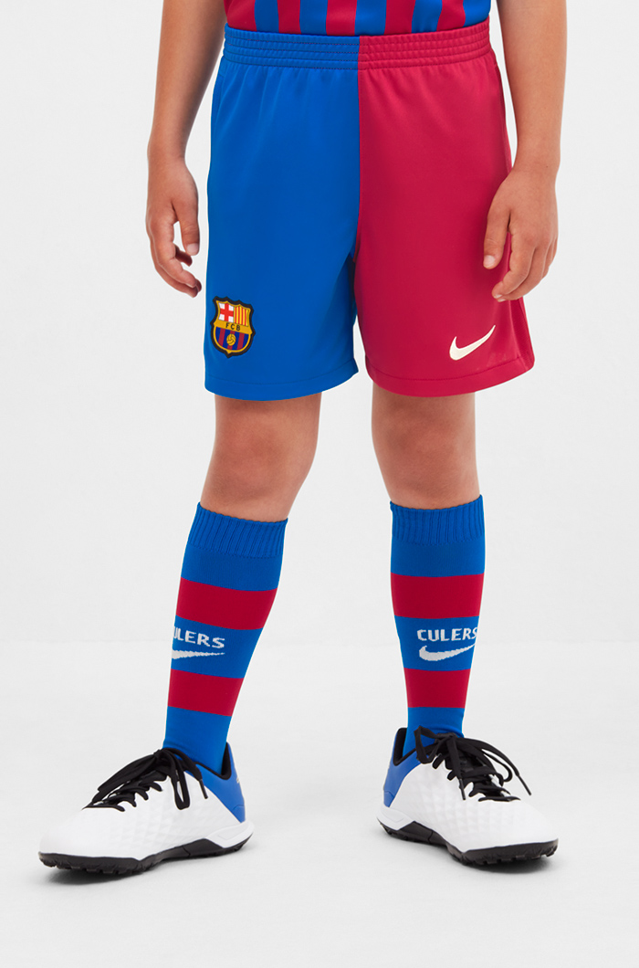 Home Kit Shorts Fc Barcelona 21 22 Junior Kits Children And Babies Categories Barca Store