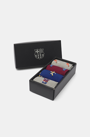 Set of 4 FC Barcelona Retro Socks