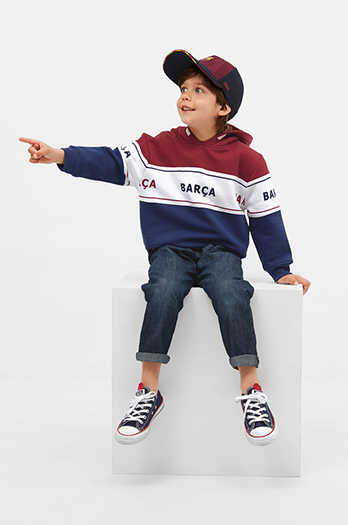 Barça hoodie with team fringes – Junior