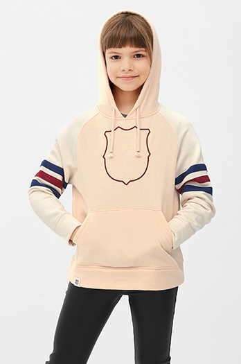 FC Barcelona embroidered kangaroo sweatshirt – Girls
