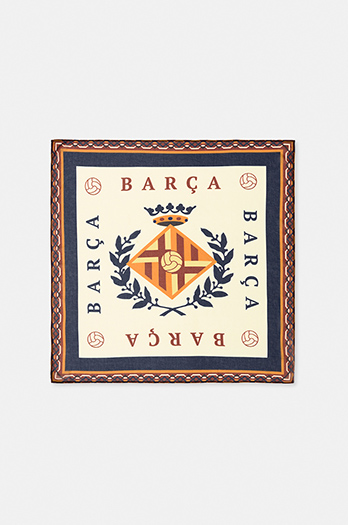 Vintage bandana featuring the city of Barcelona – Beige