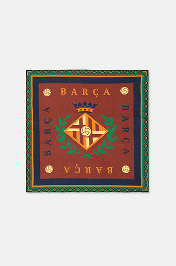 Vintage bandana featuring the city of Barcelona – Maroon