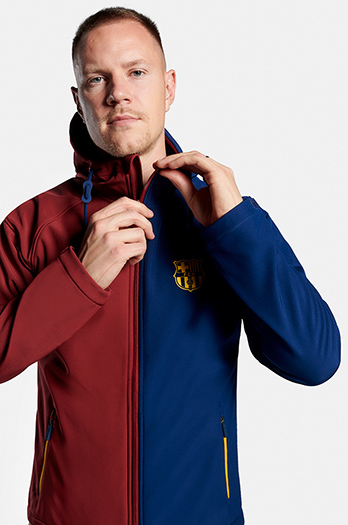 FC Barcelona Softshell bi-colour jacket